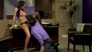 busty brunette boss rides her employee and 039 s big cock name please