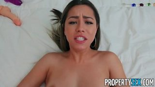 propertysex client creampies his hot real estate agent in apartment